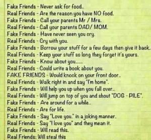 Fake Friends vs. Real Friends